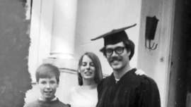 Courtesy photo &nbsp&nbsp&nbsp Alameda resident Mike Roddy celebrated his graduation from the University of California, Berkeley, with his friends and relatives in 1969.