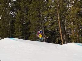 Courtesy photo &nbsp&nbsp Alameda resident and gold medal-winning  skier Race Roizen on the slopes in Colorado.