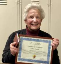Courtesy photo &nbsp&nbsp Unsung hero of the Alameda Sun sports page, Bobbie Hoepner has tirelessly supplied Sun staff with her golf club's news nearly since the paper's inception in 2001.