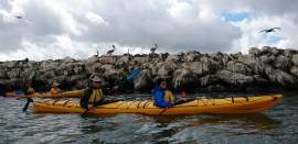 Courtesy photo  Members of the East Bay Chapter of the Hearing Loss Association took to the water with their kayaks with the help of an instructor who suffers hearing loss himself.