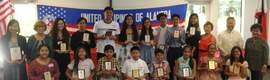 Jun de la Cruz &nbsp&nbsp&nbsp Outstanding local Filipino students display their awards along with Hon. Benjamin Reyes, UPA officers Janet Galera, Rufina Mejia and Norma de la Cruz, and keynote speaker Renee Macalino Rutledge.