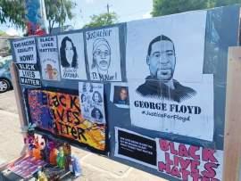 Photos &nbsp&nbsp Tanoa Stewart Part of the Black Lives Matter memorial, above.