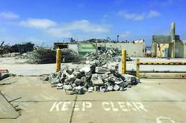 Richard Bangert &nbsp&nbsp So far, Alameda Point Partners has been seen recycling concrete, structural steel, sheet metal, rebar and asphalt out of the former Alameda Naval Air Station's World War II-era structures.