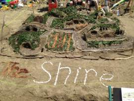 """Photo by Andy Sinaiko - Among sand sculptures """"The Shire"""" by Brandi Bunch from Alameda won best of show and first place in the 13-and-over age group."""