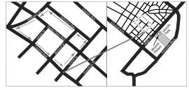 Eric J. Kos &nbsp&nbsp These maps show the site of Alameda's largest shell mound, called the Sather Mound after the 1860s property owner Peder Sather.