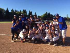 Courtesy photo &nbsp&nbsp The SJND Pilots celebrate their NCS victory in softball.