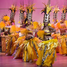 Danny Tan &nbsp&nbsp Members of Halau Ka Ua Tuahine performs as part of the Island Arts Concert Series in June.