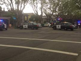 Last Thursday, several police vehicles, including the Alameda Police SWAT team van blocked traffic on Central Avenue in order to stop and apprehend a suspect in the ARCO shooting that took place April 17.