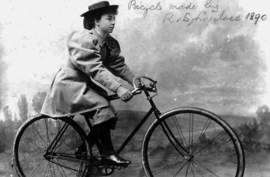 Wikimedia Commons &nbsp&nbsp Tessie Reynolds rode her bicycle with the utmost care back in 1890. Modern-day Alamedans can learn tips to keep themselves safe on the road at the upcoming Urban Cycling 101 workshop set at the Alameda Main Library, 1550 Oak St. on Wednesday, April 17.