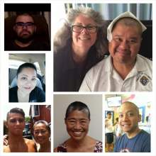 Dennis appears in the top right of this collage of his recently shaved relatives.
