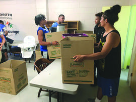 Courtesy photo &nbsp&nbsp Student athletes helped out at Rehoboth Church, 710 Haight Ave., on June 28.