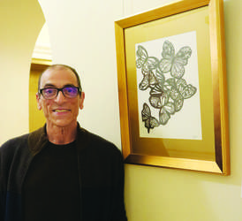 File photo &nbsp&nbsp Michael Sibio was among the first to display his works at Alameda City Hall in January. The Art in City Hall pilot program was deemed a success and Council voted last week for it to continue into a second year.