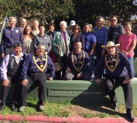 Courtesy photo  Park Avenue neighbors joined city officials and members of the Native Sons of the Golden West on Saturday, Oct 22, for the dedication of the Clark Memorial Bench.