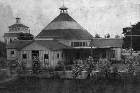 """Alameda Museum &nbsp&nbsp James Fair hired the San Francisco Bridge Company to build a dance hall he called """"The Wigwam"""" and a restaurant with a view. These buildings graced Fairs' Neptune Gardens along the San Francisco Bay shoreline south of Central Avenue near Webster Street."""