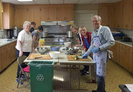 Immanuel Lutheran &nbsp&nbsp Volunteers with the Immanuel Lutheran Church prepare monthly meals for anyone in the community experiencing food insecurity. They come from many different faith backgrounds. Anyone can volunteer to serve.