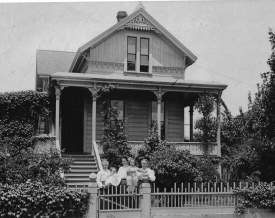 Alameda Museum  Members of the family show off a newborn in this photograph of 1177 Regent St. taken in 1910.