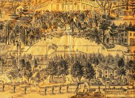 """Alameda Museum &nbsp&nbsp A drawing likely commissioned by a newspaper gives an idea of the layout of Neptune """"Croll's"""" Gardens."""