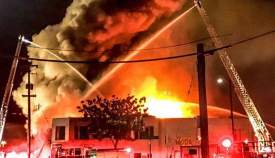 Chase Green  Oakland firefighters attack the fire at the warehouse at 1305 31st Ave. in Oakland last Friday night. According to the Alameda County Coroner, 36 people perished in the blaze, including an Alameda native.