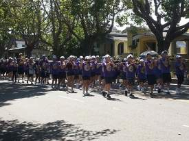 File Photo - The Lincoln Middle School Band performs in the 2013 parade.