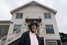 Maurice Ramirez &nbsp&nbsp Charles Mealey, 81, a veteran who served with the Strategic Air Command, was formerly unhoused until he received a helping hand from Operation Dignity. He has now found permanent housing at the City of Alameda's Everett Commons.