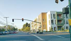 Eric J. Kos &nbsp&nbsp In 2012 the city created a document to lay out where Alameda allows acceptable densities to facilitate affordable housing. Littlejohn Commons, shown above at Buena Vista Avenue and Sherman Street, was built on one of those 11 sites. In an unrelated story, a traffic light at the intersection suffered a hit and run Monday evening.