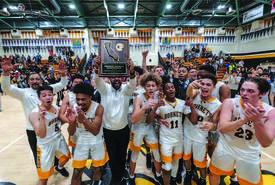 Jose Lima Jr. &nbsp&nbsp The Alameda Hornets men's basketball team celebrated winning the California Interscholastic Federation Div. II NorCal Regional title March 17, in their home gym.