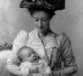 Courtesy photo &nbsp&nbsp Anna Reeves Jarvis holds her daughter and namesake. The mother pioneered the idea of Mother's Day with her Mother Work Day Clubs, The daughter helped establish Mother's Day as a national holiday.