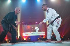 Courtesy photo &nbsp&nbsp Professor Sergio Silva, right, a fourth degree Black Belt in Brazilian jiu-jitsu and a black belt in Judo knew exactly what he had to get done to win the Fight to Win tournament Nov. 17 in Richmond.