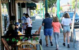 Dennis Evanosky &nbsp&nbsp Shoppers and diners are slowly returning to the Park Street shops and restaurants that opened last Friday.
