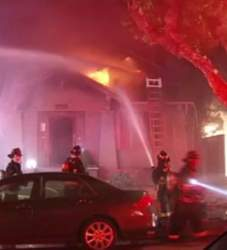 Alameda Fire Department  Alameda firefighters bring a fire on the 1500 block of Fountain Street under control.