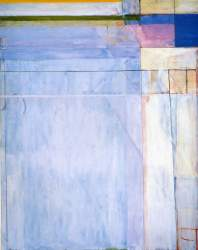 """Courtesy San Francisco Museum of Modern Art, Richard Diebenkorn's """"Ocean Park #54"""" from 1972 will be part of a community conversation on June 18 at the Main Library."""
