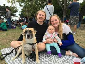 "Jeff Cambra  Bruder the pooch brought his entire family to the ""Dog Days of Summer"" concert at Crab Cove last Friday. Steve, Amanda and little Halina Bugge enjoyed their picnic dinner while Carne Cruda performed on stage."