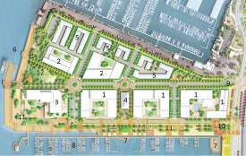 City of Alameda &nbsp&nbsp&nbsp With Planning Board approval, plans for Encinal Terminals are firming up. The development will include mixed-use commercial-residential (1), a maritime market hall (4); townhomes (5); a small-craft launch (7) and the marina (8).