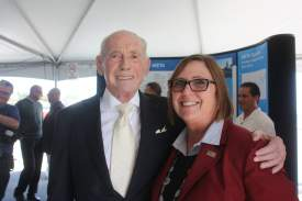 Dennis Evanosky  Ron Cowan an essential figure in the creation of the Harbor Bay Ferry was honored last Thursday.