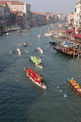 Courtesy photo - Alameda's Dragon Flyers (large boat in the foreground) compete on a lake near Venice, Italy.
