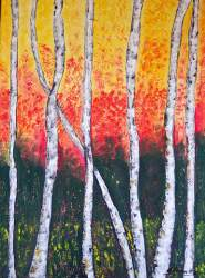 """Birch Trees"" by Cheryl Harawitz will be on display at Studio 23 for second Fridays this month."