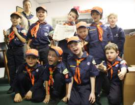 The Cub Scouts at the Alameda Sun.