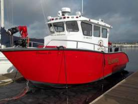 The city's new fireboat.