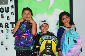 "Photo courtesy Alameda Boys & Girls Club &nbsp&nbsp Students from the Alameda Boys & Girls Club show off their backpacks from the 2017 ""Equipped 4 Success"" school supply drive."