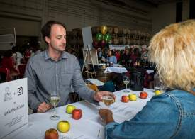 Mike Rosati  Adam Chinchiolo (left) of Far West Cider represented one of the Bay Area wineries that supported an effort to raise funds for Alameda Meals on Wheels.