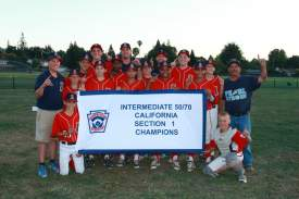 Scott Hester  The Alameda Intermediate Little League All Star team took two victories over Vacaville to earn the Section One Championship.