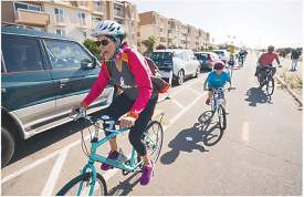 Maurice Ramirez Photography &nbsp&nbsp Mayor Marilyn Ezzy Ashcraft enjoyed the ride down Shoreline Drive as a participant in last weekend's Ride for the Parks.