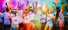 Courtesy photo &nbsp&nbsp The Color Run is on tap at Alameda Point again this year on Saturday, Aug. 18.