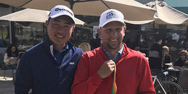Courtesy photo &nbsp&nbsp Jason Anthony, right, winner of the 92nd Commuters Golf Tournament stands with second-place finisher Aaron Chen.