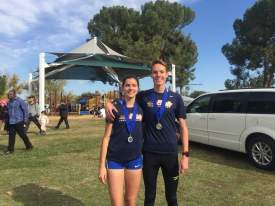 File photo  Runners Kiera Marshall (left) and Cooper Teare celebrated several feats in the second half of 2016.