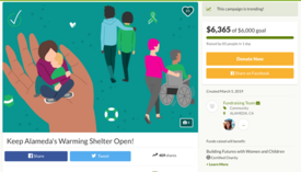 Courtesy www.gofundme.com &nbsp&nbsp A fundraising campaign to benefit the Alameda Warming Shelter had already reached and exceeded its goal after just 24 hours of appearing online.