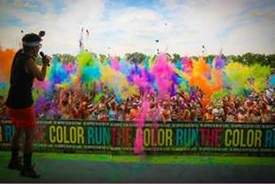 "Courtesy photo &nbsp&nbsp The Color Run features ""color throws"" that get all the runners covered in paint."