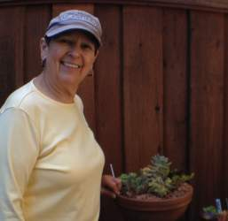 Jillian Strahler  Georgia Madden lent her expertise to the Alameda Support Foundation plant sale.