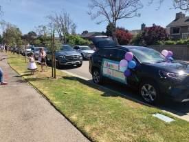 Paul Bernardino &nbsp&nsbp An Earhart Elementary teacher received a special parade last week for Teacher Appreciation Week.