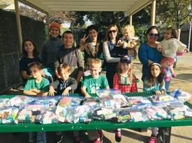Courtesy photo &nbsp&nbsp The East Hills 4H Club recently assembled bags containing personal essentials that were then given to the area's homeless.